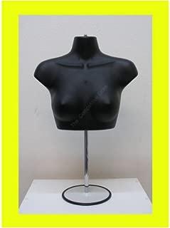 Torso Female W/Metal Base Mannequin Form Bk