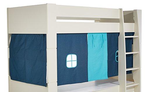Steens For Kids Vorhangset für Kinderbett, Hochbett, 5 tlg, 176 x 75 x 91 cm (B/H/T), Baumwolle, blau