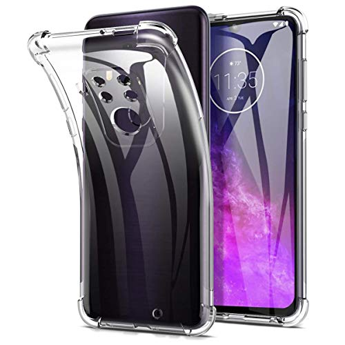 swark Hülle Kompatibel mit Motorola One Zoom Hülle Ttimao Weiche Transparent TPU Silikon Luftpolster Design Drop Protection Superdünne Anti-Schock Anti-Scratch Schutzhülle