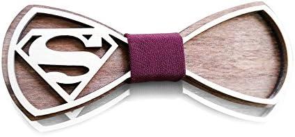 Wooden Bow Tie SM Unique Design Holiday Wedding Wood Bowtie Men Necktie Gift Box product image