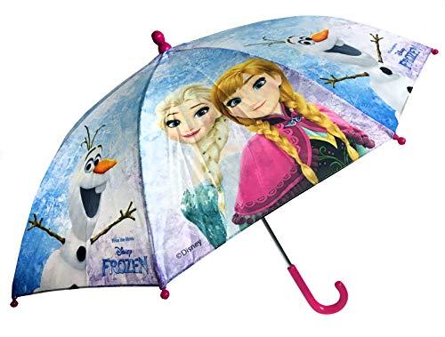 Chanos Frozen Manual Safety Runner PoE Embossed Folding Umbrella, 38 cm, Light...