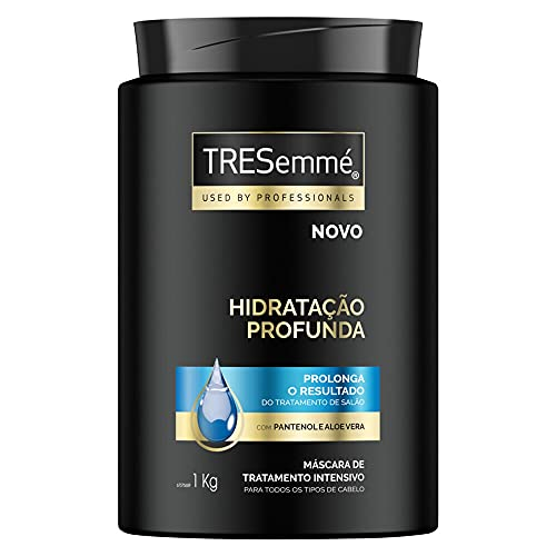 Máscara de Tratamento Intensivo com Pantenol e Aloe Vera Tresemmé Hidratação Profunda Pote 1kg, TRESemmé