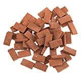 Hiawbon 300 Pcs Mini Red Wall Bricks Model Brick Building Set Dollhouse Miniature Bricks Diorama Landscaping Accessories DIY Dollhouse Bricks Diorama Fairy Garden,1/16 Scale