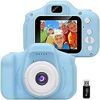 GlobalCrown Appareil Photo pour Enfants,Mini Caméra Numérique Rechargeable Caméscope Antichoc Photo/vidéo pour Filles...