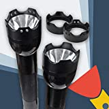 Crenellated Strike Bezel Talon Face Cap for Maglite D/C Cell Torch/flashlight (Decorative Twin Holes)
