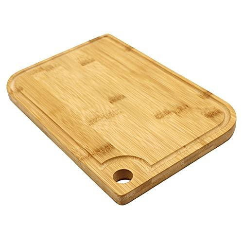 Cocina Tableros de corte natural Jugo Groove Tabla de corte de madera Bambú Picar tabla (Color : A)