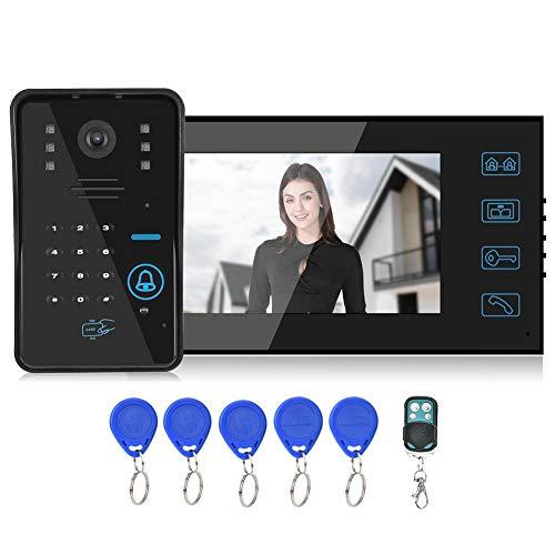 AMONIDA Romantisches Geschenk Video Türsteuerungssystem Video, Video Türklingel, Nachtsicht-Passwortkarte, empfindliche Touchscreen-Farbe T LCD, System(U.S. regulations)