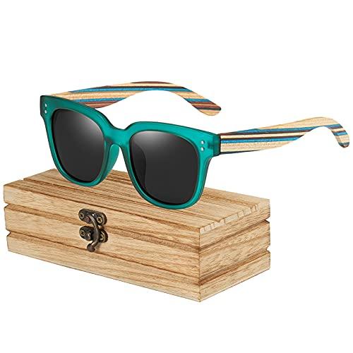 Gafas de sol de madera para hombres y mujeres con protección UV