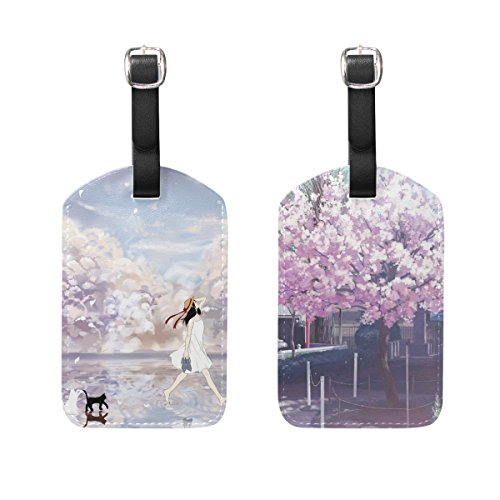 tyui Dragon.S 2 Pack PU leder {naam} Bagage Tag ID Tags visitekaartje voor Hang on Travel Bag koffer Bagage