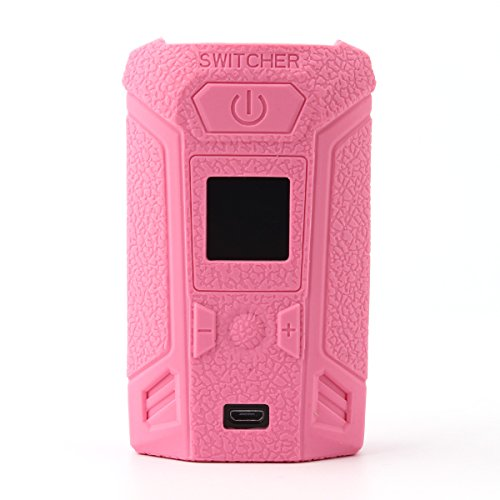 CEOKS for Vaporesso switcher 220W mod case, Protective Silicone case Skin Rubber Cover modshield Sleeve wrap for vaporesso switcher kit 220W mod Box Anti-Slip & Durable (Pink)