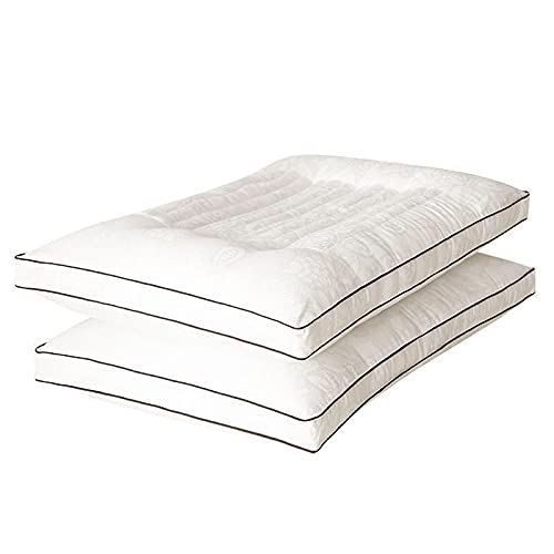 SKYGC Almohada Estándar Almohadas de Cama para Dormir, Paquete de 2, Almohadas de Calidad para Hoteles y Resorts Almohada Hipoalergénica, 48x74 cm Blanco