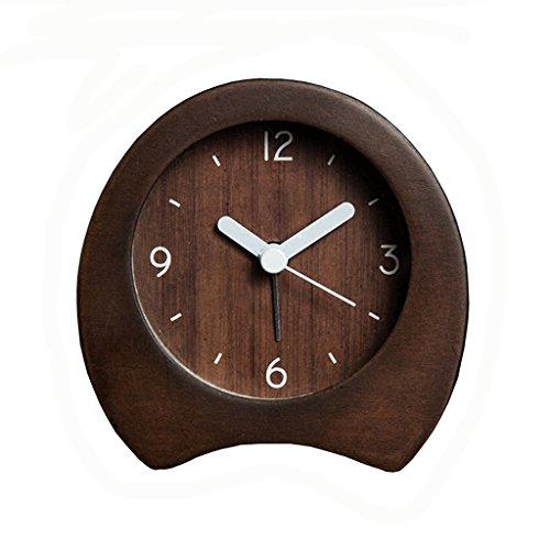 XT Massief houten wekker Stil alarm clock Student klok Eenvoudige wekker Slaapkamer wekker klok van de lijst