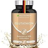 L-GLUTATHION reduziert zu 98%   Optimale Formel mit Vorläufern + Vitamin C   Tripeptid: Glutaminsäure, Cystein, Glycin   90 Kapseln Vegan Hochdosiert für Immunsystem, Antioxidans, Anti-Aging