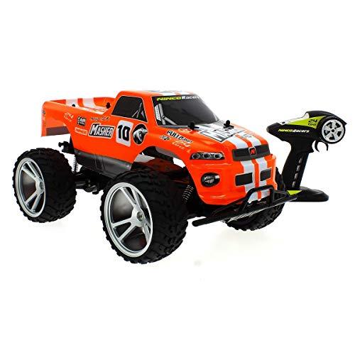 Ninco NincoRacers Masher +. Monster Truck teledirigido 2.4GHz. Color: rojo. Medidas: 47 cm...