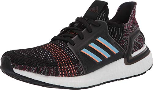 adidas Men's Ultraboost 19 Running Shoe, black/glow Blue/Black, 9.5 M US