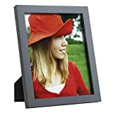 RPJC 8x10 Picture Frames Made of Solid Wood High Definition Glass for Table Top Display and Wall Mounting Photo Frame Grey