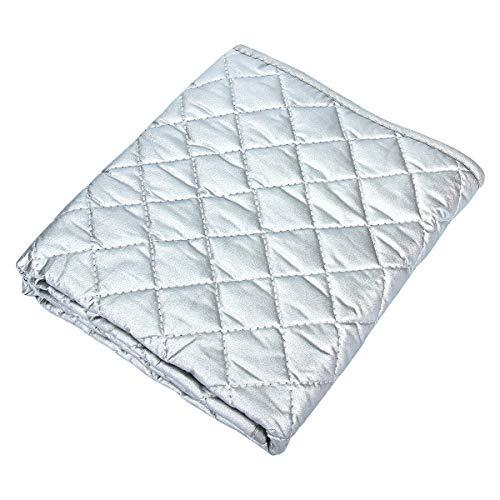 CA Mode(JP) 折りたたみアイロンマット アイロン台パッド 当て布 両面使える 銀メッキコーティング加工 耐熱性良い 収納便利 手洗いOK