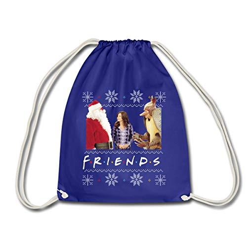 Spreadshirt Friends Pull Moche De Noël Monica Santa Tatou Sac À Dos Cordon, bleu roi