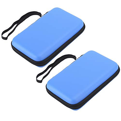 con Bolsa de Consola de Juegos con Marco de Pegamento elástico, Bolsa Azul para máquina de Juegos, para Consola de Juegos, para Consola de Juegos Nintendo 3Ds XL(Azul)
