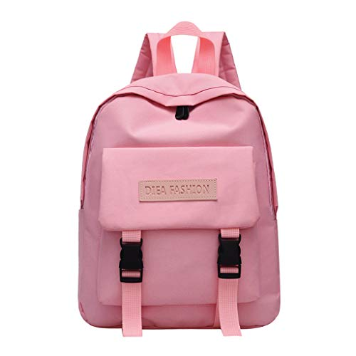 Lightweight Water Resistant School Backpack College Book Bags Travel Rucksack Fit 15 Inch Laptop Pink