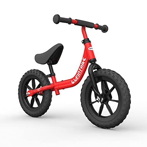 besrey Bici Bimba 2 Anni Bicicletta Senza Pedali 2 Anni - 5 Anni, Rosso