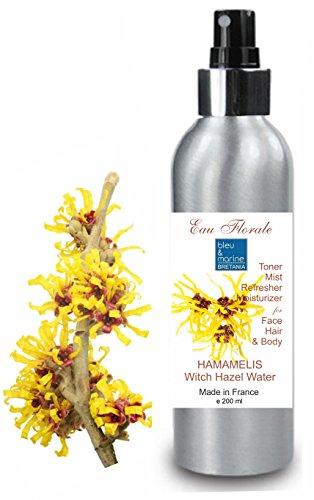 Hydrolat Toverhazelaar - Hamamelis water 200 ml Bloemenwater 100% Pure Alcoholvrij Poriënreiniger Vette huid Toner Gezicht Make-up Remover Blemish Acne natuurlijke reiniger en toner