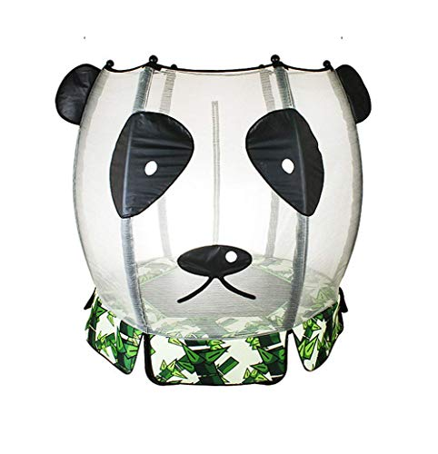 LuoMei Fitness Trampoline Gym Panda Pattern with Safety Enclosure Outdoor and Indoor Trampoline for Kids