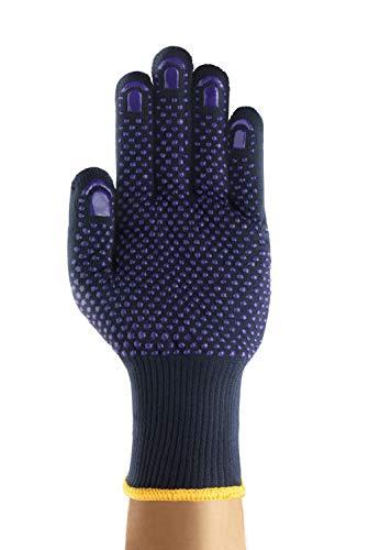 Ansell FiberTuf 76-501 Guanto Multiuso, Protezione Meccanica, Blu, Taglia 9 (12 Paia)