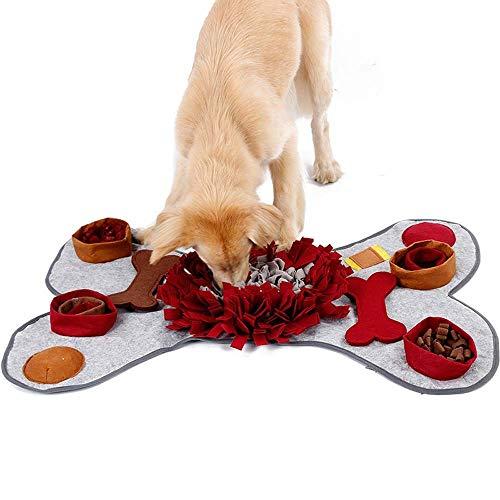 Faus Koco Pet Decken Hund Schnüffelt Ausbildung Dekompression Kissenpolster Knochen Und Riechen Sie Den Energieverbrauch Von Slow Food-Puzzle-Spiel-Pad 105 * 70cm