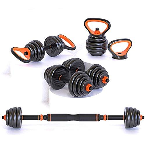 PPuujia Juego de mancuernas ajustables de 24 kg, para gimnasio y fitness en el hogar (color total: 24 kg)