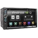 XOMAX XM-2VA777 Autoradio con Android 10 I Quad Core, 2GB RAM, 32GB ROM I Navigatore GPS I Supporto WIFI, 4G, DAB, OBD2 I Bluetooth I Touch Screen 7'' I USB, SD, RDS I 2 DIN