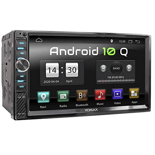 XOMAX XM-2VA777 Autoradio mit Android 10, Quad Core, 2GB RAM, 32GB ROM, GPS Navigation I Support: WiFi WLAN, 3G 4G, DAB+, OBD2 I Bluetooth, 7 Zoll / 18cm Touchscreen, USB, SD, AUX, 2 DIN