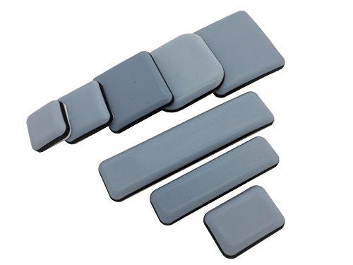 4 Stück Teflongleiter selbstklebend verschiende Größen auswählbar (25x25 mm) PTFE Gleiter Möbelgleiter