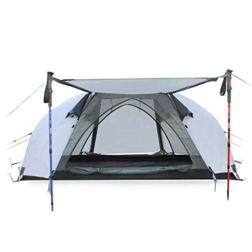 Dhmm123 Durable Camping Tent Compact Camping Tent Layer Outdoor Lightweight Tent Waterproof Wind Proof for Hiking Mountaineering 215cm*135cm*110cm,Easy to Install