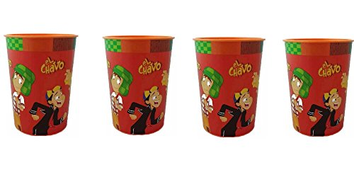 El Chavo Plastic Reusable Cups Pack of 4