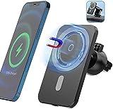 LUOWAN 15W con Supporto per Caricabatteria da Auto Wireless Magnetico per iPhone 12/12 PRO Max Mini con Supporto per Telefono per Auto con Caricatore Wireless Magsafe a Ricarica Rapida