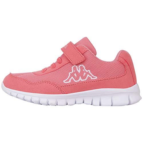Kappa Mädchen Follow Sneaker, Rot (Flamingo/White 7210), 32 EU