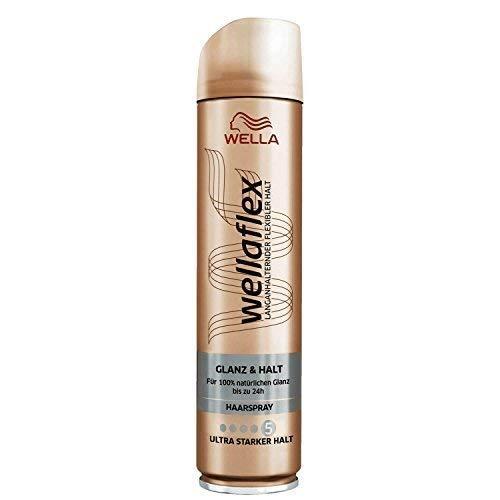 Wellaflex Haarspray Glanz & Halt, Ultra Starker Halt, 2er Pack (2 x 250ml)