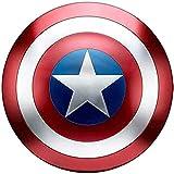 Captain America Metal Shield Kids/Adulto 1: 1 Modelo De Aleación De Manos Modelo De Adultos Cosplay Shield 75th Anniversary Glory Collection Classic Edition, 47cm,Scratched-47cm