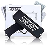 sheatee gun black gun cash gun super gun spray gun dollar gun make it rain gun(Battery Included),- cash gun funny party game