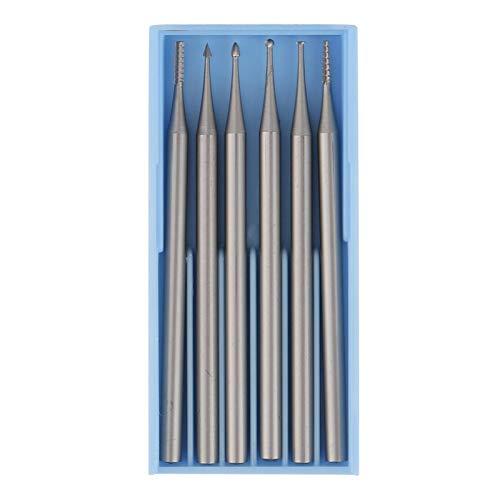 オリーブコア用プッシュロッドタイプ彫刻カッター彫刻ツール6PCS(Thin sleeve)