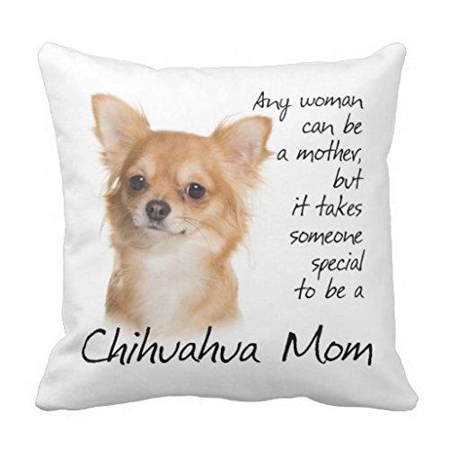 Chihuahua Kissen 18x 18Home Decor Werfen Kissen für Couch Leinwand Quadratisch Accent Kissen Kissenbezug für Sofa und Couch