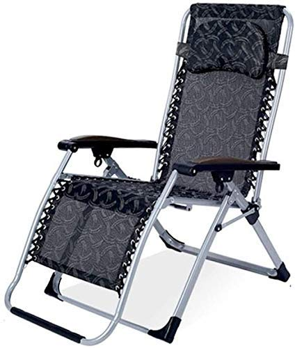 WJXBoos Silla reclinable Sillas de Gravedad Cero Tumbonas reclinables en el jardín y al Aire Libre Cama de Playa Plegable portátil Cama de Camping Soporte 200 kg (Color: D)