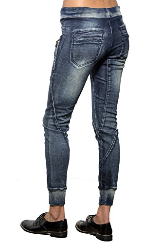 Women's Drawstring Denim Knit Skinny Joggers Pants 5