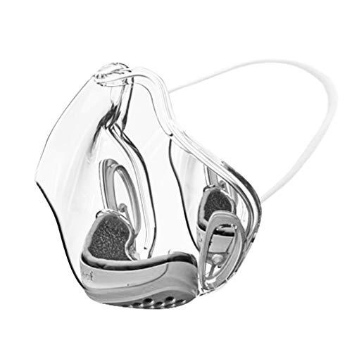 PIASNHAOAH4 1PCS Adultos 𝐌𝐚𝐬𝐜𝐚𝐫𝐢𝐥𝐥𝐚𝐬 De Montar Transparente Reutilizable PláStico con Filtro ProteccióN Facial Duradera Apto para Exterior E Interior (Gris)