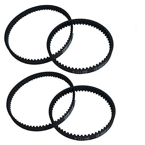 Crucial Vacuum Replacement Vacuum Belts Compatible with Bissell Part # 2036804, 203-6804, 203-6688 & Models 9200, 9300,9400, 8920 Powerful Long Lasting Vac Belts – Bulk (4 Pack)