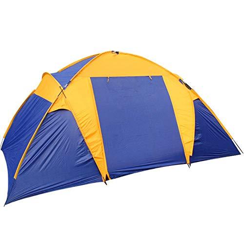 Uitstapje Udstyr, Klimtent Dubbele Camping Twee Slaapkamer Een Hal Tent Winddichte Zonnescherm Tent Geschikt voor Outdoor Sportsmen Draagbare Sun Shade Instant Tent voor Strand, Kejing Miao