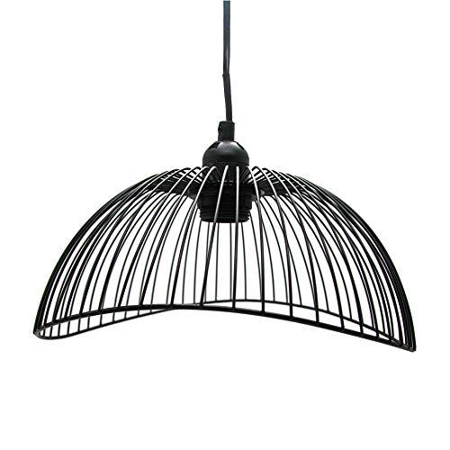 Rebecca Mobili Plafondlamp, zwart, modern design, voor keuken, woonkamer, max. 25 W, E27, kabel 80 cm, lampenkap 15 x 29 x 29 cm (h x b x l). RE6268.