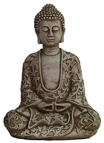 Lotus Buddha Concrete Statue Asian Garden Outdoor Sculpture