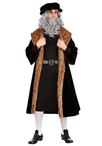 Men's Leonardo da Vinci Costume X-Large Black
